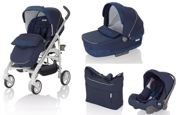 Inglesina Trilogy systém + podvozek Trilogy 2015 > varianta Double Handle White-MAR
