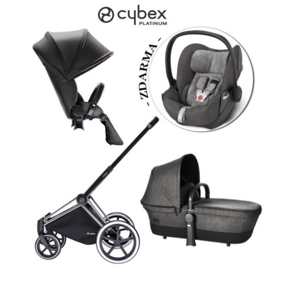 Cybex set Priam Trekking 2018 + zdarma autosedačka Cybex Cloud Q Plus > varianta Manhattan grey