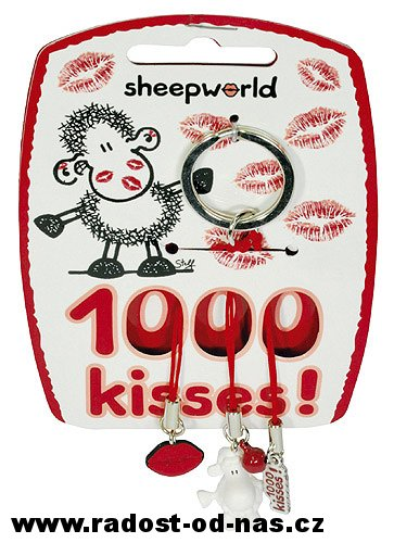 Sheepworld Klíčenka Kisses