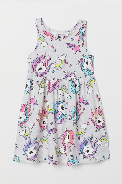 ŠATY UNICORN TUNIKA ZN. H&M > varianta 6-8 LET > 7-8let (122-128)