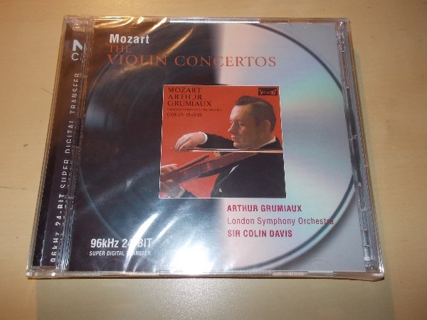 Mozart  ‎– The Violin Concertos - ARTHUR GRUMIAUX , SIR COLIN DAVIS (2CD)