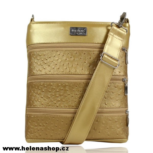Dara Bags crossbody kabelka Dariana Middle No. 1648 LUXURY Gold > varianta 3D LUXURY - zlatá > 27 x 29cm