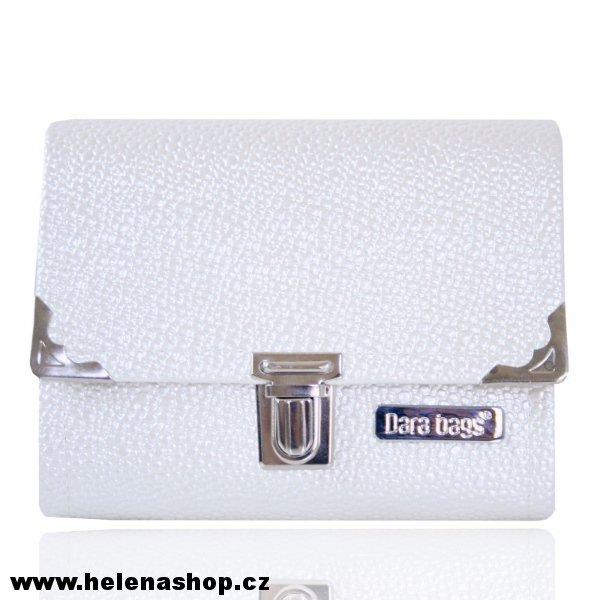 Dara Bags Peněženka Third Line Purse No. 389 LUXURY WHITE BUBBLE > varianta 3D LUXURY BUBBLE - bílá > 14,5 x 11cm
