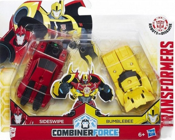 Bumblebee+Sideswipe Transformers RID Combiner Force