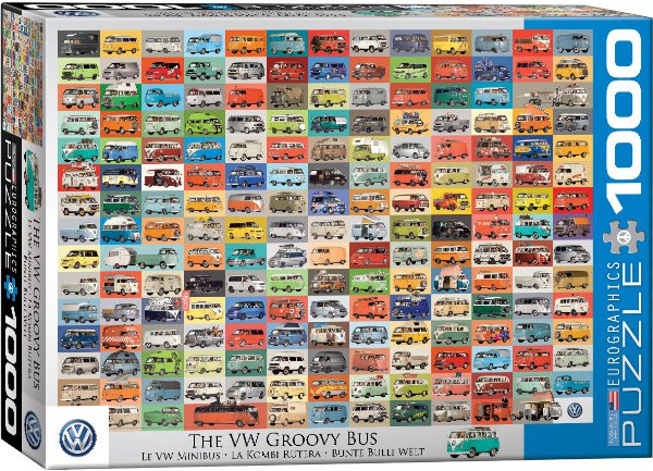 Puzzle  Volkswagen Groovy Autobusy 1000