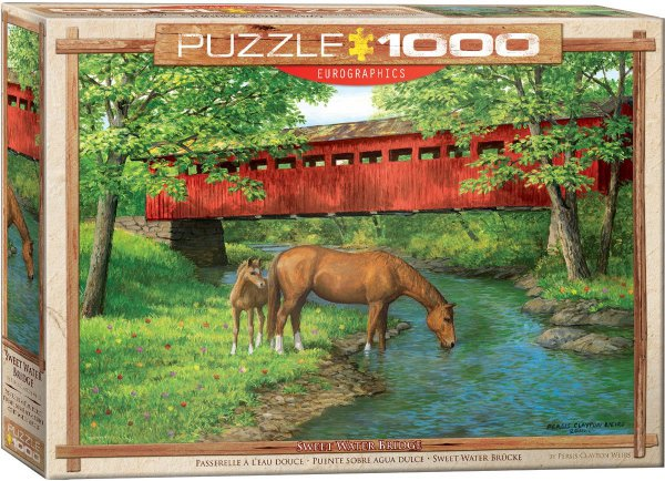 Puzzle EuroGraphics Most u Sweet Water > 1000 dílků