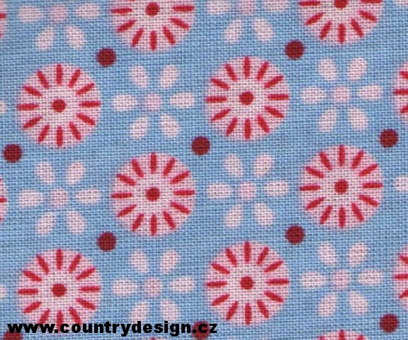 Tilda látka : Fat Quarter > varianta Circles Blue