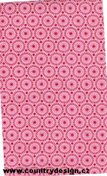 Tilda látka : Fat Quarter > varianta Sunwheel Red