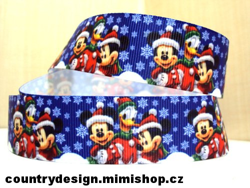 Rypsová stuha : Mickey Minnie Mouse > varianta 1 > 25 mm