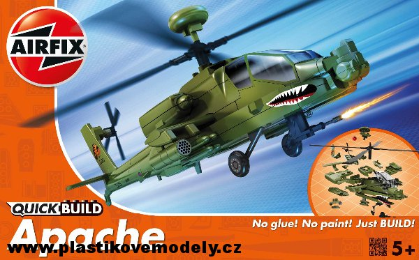 J6004 - QUICK BUILD Apache Helicopter (Airfix)