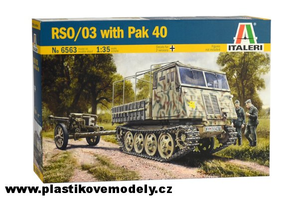 Model Kit military 6563 - RSO/03 with PAK 40 (Italeri 1:35) > 1:35