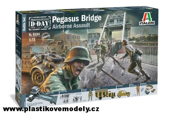 Model Kit diorama 6194 - Pegasus Bridge Airborne Assault (Italeri 1:72) > 1:72