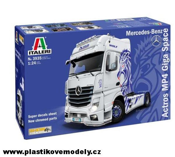 Model Kit truck 3935 - Mercedes-Benz ACTROS MP4 Giga Space (Italeri 1:24) > 1:24