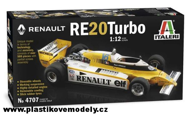 Model Kit auto 4707 - RENAULT RE 20 Turbo (Italeri 1:12) - Doprava zdarma > 1:12