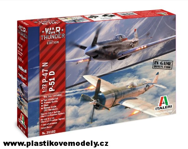 Model Kit War Thunder 35102 - P-47 N and P-51 D (Italeri 1:72) > 1:72