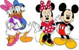 MINNIE,  MICKEY MOUSE, KAČER DONALD