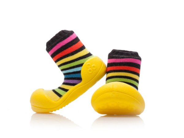 Attipas Rainbow Yellow > XXL / EURO 24 / 136-145 mm