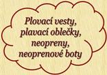 Plovac vesty, obleky, neopreny