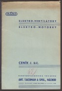 ELEKTRO  VENTILTORY / ELEKTRO  MOTORKY