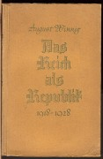 DAS REICH ALS REPUBLIK 1918 – 1928	(	Winning August	)	(	německy	)