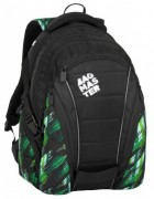 Studentský batoh Bagmaster - Bag 8 F - Black / Green / White