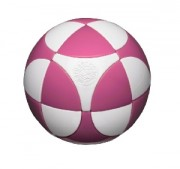 Pink & White Marusenko sphere (koule) Level 1