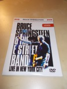 BRUCE SPRINGSTEEN - A THE E STREET BAND - LIVE IN NEW YORK CITY (2DVD v pošetce)
