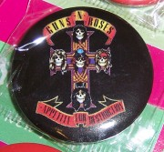 Odznak o průměru 3 cm - Button Guns N Roses - Appetitte For Destruction