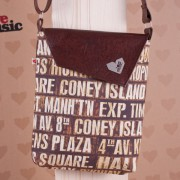 Lovemusic Hnědá crossbody taška - kabelka Dafné Brooklyn Love Music