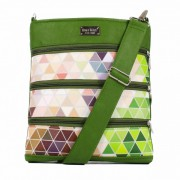 Dara Bags crossbody kabelka Dariana Middle No. 1815 Triangels green-multicolor