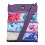 Dara Bags crossbody kabelka Dariana Big No. 1809 Triangels violet-multicolor
