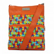 Dara Bags crossbody kabelka Dariana Big No. 1813 puzzle multicolour