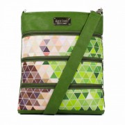 Dara Bags crossbody kabelka Dariana Big No. 1815 Triangels green-multicolor