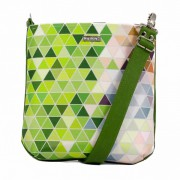 Dara Bags crossbody kabelka listonoška Simply Daisy No. 210 Triangels green-multicolor