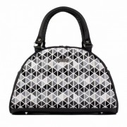 Dara Bags elegantní kabelka do ruky Art Deco Bell No. 148 Triangels Triangels black-grey
