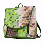 Dara Bags Městský batoh na záda CityLife Backpack No. 105 Triangels green-multicolor