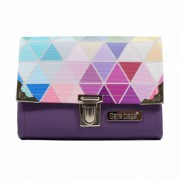 Dara Bags Peněženka Third Line Purse No. 884 Triangels violet-multicolor