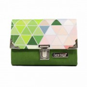 Dara Bags Peněženka Third Line Purse No. 889 Triangels green-multicolor