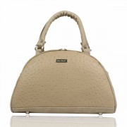 Dara Bags elegantní kabelka do ruky Art Deco Bell No. 115 LUXURY Beige Cream