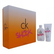 Calvin Klein CK One Shock For Her - sada - EDT 100 ml  +  tělové mléko 100 ml