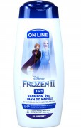 ON LINE KIDS 3V1 ŠAMPON,  PĚNA A SPRCHOVÝ GEL DISNEY FROZEN II 400 ML