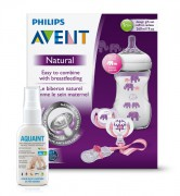 Sada Natural 260 ml Slon dívka + Aquaint PHILIPS AVENT