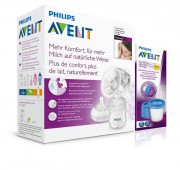 Odsávačka mateř.ml. Natural se zásobníkem 125ml + VIA180ml 5ks PHILIPS AVENT
