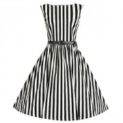 Šaty Lindy Bop Audrey Black Stripe
