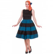 Šaty Dolly and Dotty Anna Stripe Black Blue