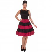 Šaty Dolly and Dotty Anna Stripe Black Burgundy