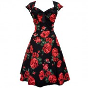 Lady V London Isabella Red Green Rose