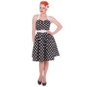 Retro Šaty Dolly and Dotty Sophie Black and White Polka