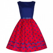 Lindy Bop Audrey Mono Red Blue