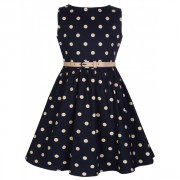 Lindy Bop Mini Audrey Navy Polka